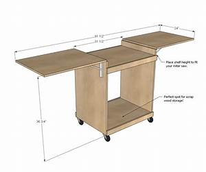 Ana White Miter Saw Cart - DIY Projects