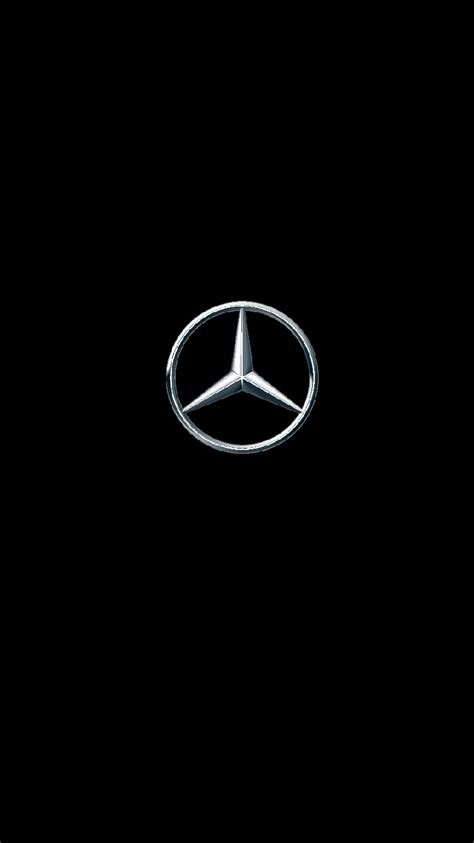 Mercedes benz logo transparent background 11332 free. Mercedes Logo iPhone 7 Wallpaper 750x1334