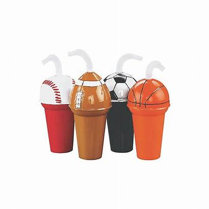 Cup Assortment Sport Straws Cups Party Orientaltrading