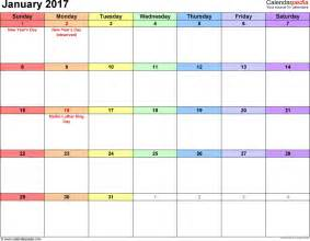 Printable 2 Page Monthly Calendar 2017 Calendar Template