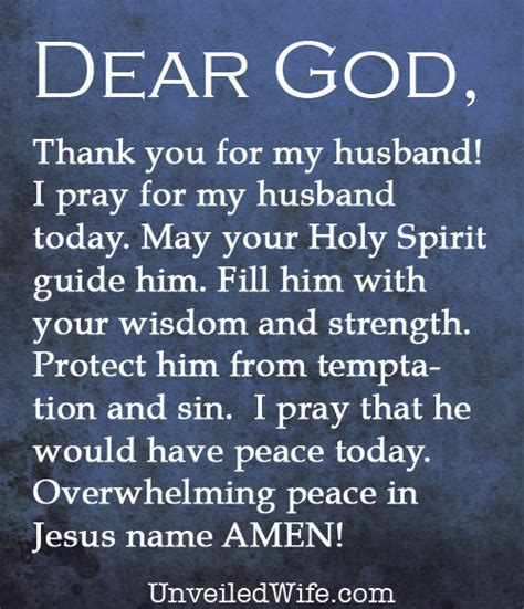 prayer of the day my husband