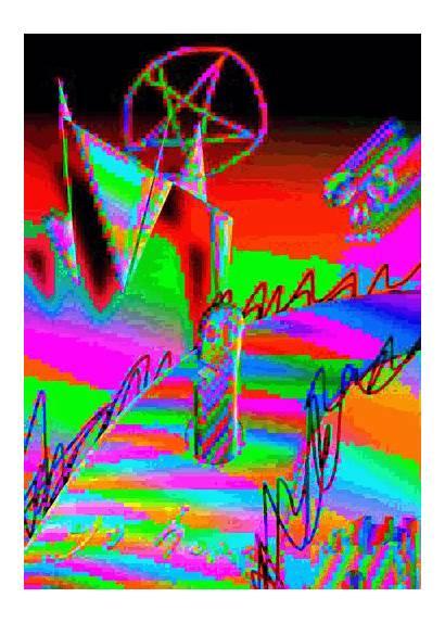 Glitch Aesthetic Animated Background Neon Pentagram Williamson