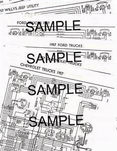 1957 Willys Jeep Utility 4  U0026 6 Cylinder 57 Wiring Guide