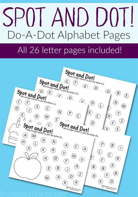 spot  dot alphabet pages  images alphabet
