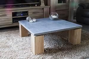 Table Basse En Beton : table basse en pierre bleue bois jeliodesign ~ Teatrodelosmanantiales.com Idées de Décoration