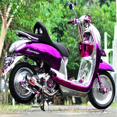 Scoopy Fi Ring 17 by 49 Gambar Modifikasi Scoopy Airbrush Thailook Velg Jari