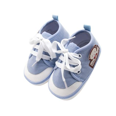 shoes baby casual canvas walker solid lace simple