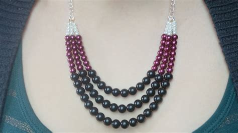 diy statement necklace youtube