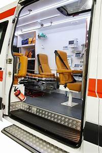 Interior of an empty ambulance car | Stock Photo | Colourbox