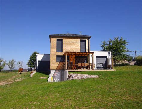 maison bois cubique 224 toit plat nos maisons ossatures bois maison cubique