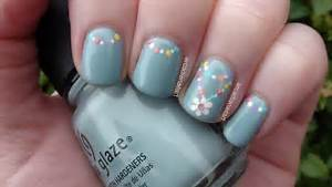 Simple flower nail designs art