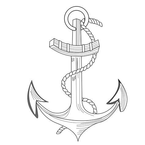 navy anchor drawing  getdrawings
