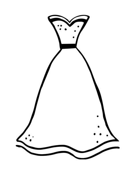 Dress Coloring Pages Coloring Pages Printable Formal Dress Coloring Page Free Printables