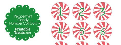 red peppermint candy number cut outs printable treatscom