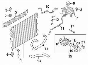 Ford Edge Hose  Engine  Coolant  Overflow  Reservoir