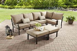 Sandhill outdoor sectional sofa set mainstays sandhill 7 for Sandhill 7 piece outdoor sofa sectional set replacement cushions