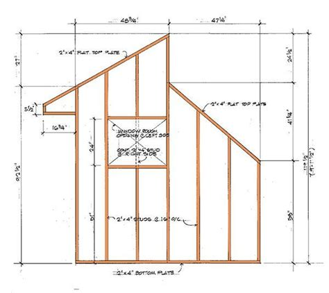 Saltbox Shed Plans 8x12 by Free Shed Plans 8 215 12 Redwood Woodworking Projects