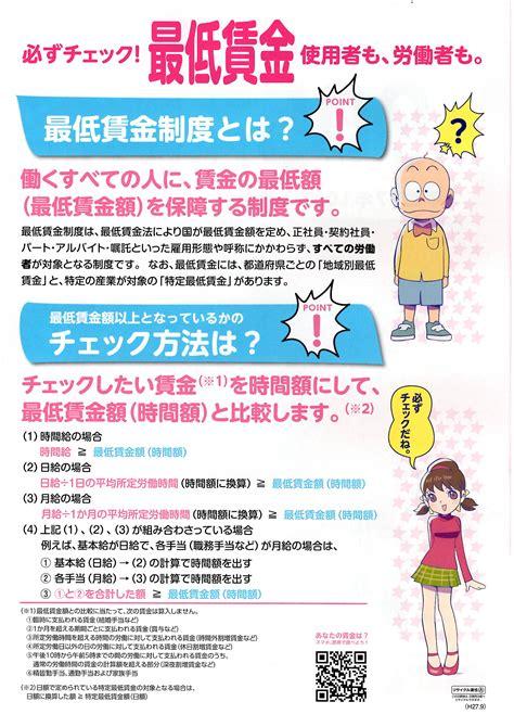 神奈川 県 最低 賃金
