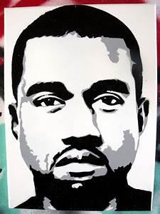 Kanye West stencil canvas by CRONENZ on DeviantArt | Art ...