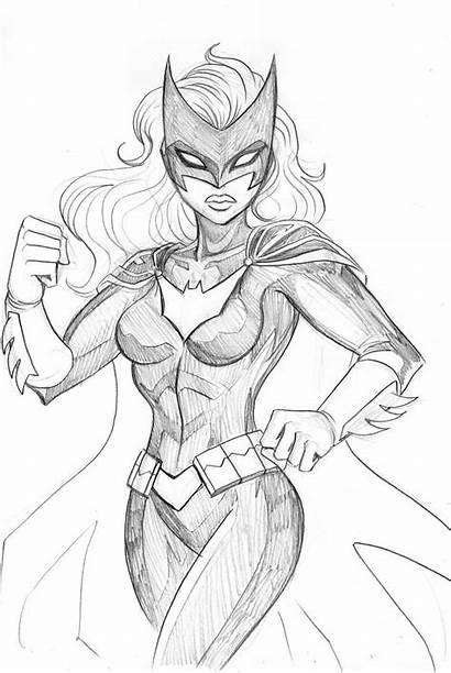 Batwoman Sketch Deviantart Drawing Lucianovecchio Drawings Batgirl