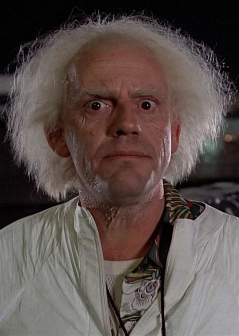 dr emmett brown back to the future 1985 wikia