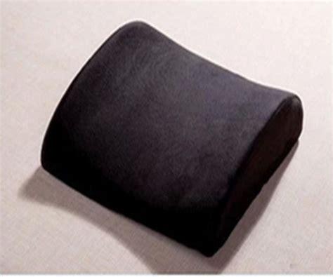 Black Lumbar Cushion Car Pillow Seat Support Back Pain