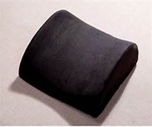 black lumbar cushion car pillow seat support back pain With back wedges for lumbar support