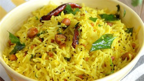 lemon rice lunch easy lunch box recipe youtube