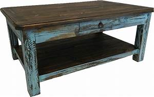 Rustic Antique Turquoise Coffee Table Turquoise CoffeeTable
