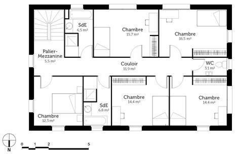 maison 6 chambres plan maison en u 6 chambres