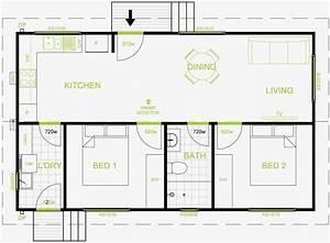granny flat plan 60 square meters