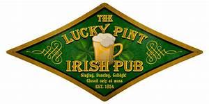 Lucky Pint Irish Pub Vintage Metal Sign