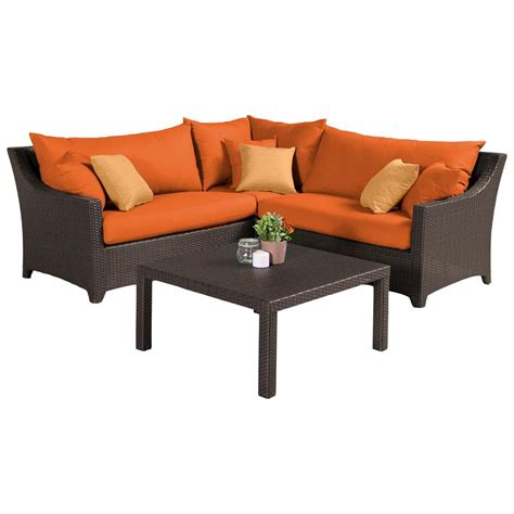 rst brands deco 4 patio sectional seating set with