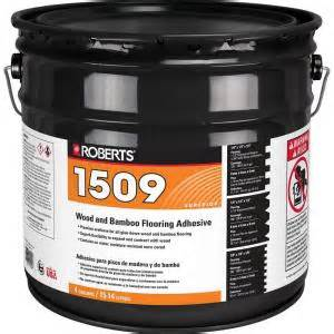 4 gal wood and bamboo flooring urethane adhesive r1509 4 8p the home depot