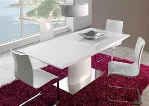 Table Pied Central Extensible : acheter votre table couleur noyer pied central et allonge ~ Teatrodelosmanantiales.com Idées de Décoration
