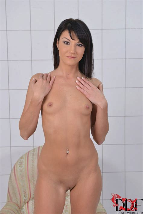 Beautiful Brunette With Small Tits Is Naked