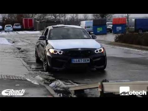 brand new bmw m2 eibach springs 12mm wheel spacers and carbon spoiler motech performance