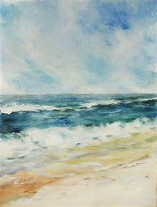 Seascape Paintings (acrylics) | Oil Pastels by Mary