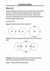 Covalent Bonding Dot-cross Help Sheet By Rmr09