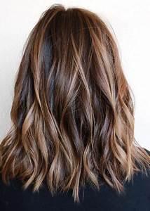 Balayage Braun Rot : cheveux mi longs d grad s les plus jolis mod les coiffure simple et facile ~ Frokenaadalensverden.com Haus und Dekorationen