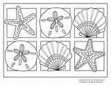 Coloring Seashells Popular sketch template