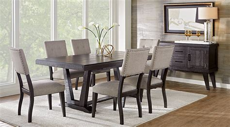 hill creek black  pc rectangle dining room dining room