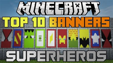 Minecraft 10 epic Superhero banners! With tutorial ...