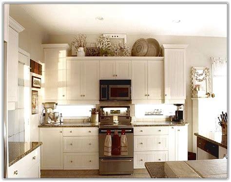 decorate top kitchen cabinets home design ideas