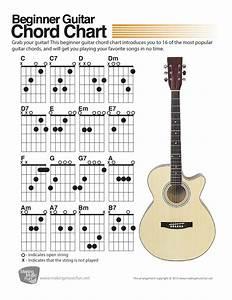Beginner Guitar Chord Chart  Digital Print