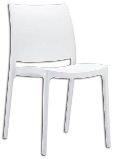 chaise en plastique chaise en plastique blanche cuisissimo