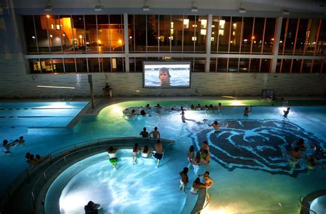 college recreation  includes pool parties  river