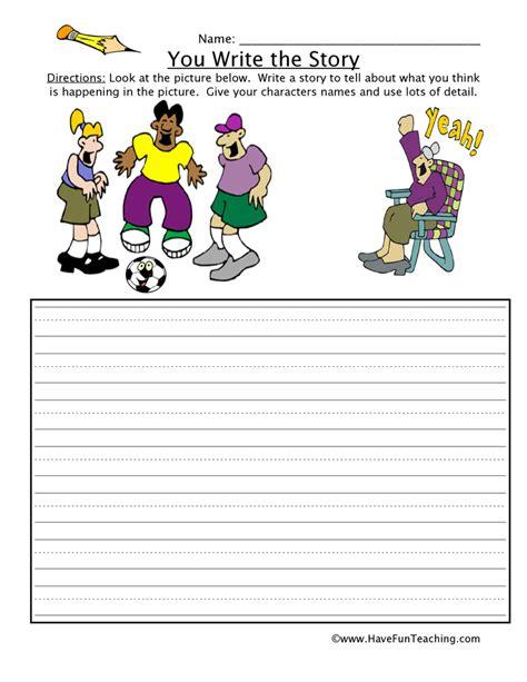 free story writing worksheets for kindergarten 10