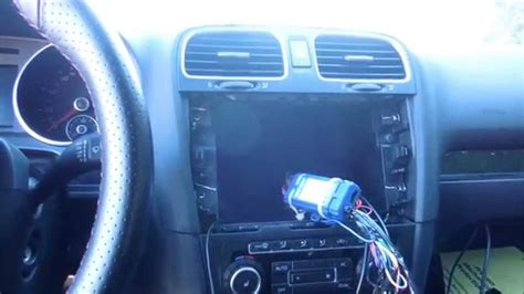 how to install or replace stereo in volkswagen gti mark 6 2011 youtube