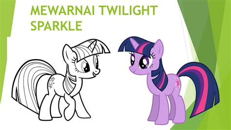 mewarnai kuda poni twilight sparkle untuk siswa paud tk